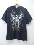 XL★古着 Tシャツ ポパイ バイク 黒 ブラック 19aug30 中古 メンズ
