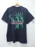 XL★古着 ビンテージ ハーレーダビッドソン Harley Davidson Tシャツ 90年代 自由の女神 黒 ブラック 19aug30 中古 メンズ