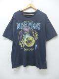 XL★古着 ビンテージ Tシャツ 90年代 魔法使い バイクウィーク 大きいサイズ 黒 ブラック 19aug30 中古 メンズ