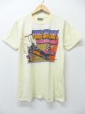 S★古着 ビンテージ Tシャツ 80年代 ドラッグレース USA製 薄ベージュ カーキ 【spe】 19aug30 中古 メンズ