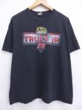 XL★古着 Tシャツ レーシングカー NASCAR マーティントゥーレックスジュニア 黒 ブラック 19sep04 中古 メンズ