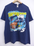 XL★古着 Tシャツ レーシングカー NASCAR 紺 ネイビー 19sep04 中古 メンズ