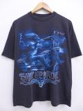 XL★古着 Tシャツ スケルトン バイク 黒 ブラック 19sep04 中古 メンズ