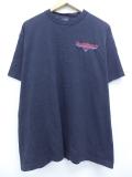 XL★古着 半袖 ビンテージ ハーレーダビッドソン Harley Davidson Tシャツ 90年代 ニューヨーク カフェ 刺繍 コットン クルーネック USA製 黒 ブラック 19sep09 中古 メンズ