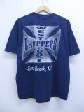 XL★古着 半袖 Tシャツ ウエストコートチョッパーズ クルーネック 紺 ネイビー 19sep09 中古 メンズ