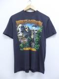 L★古着 半袖 ビンテージ ハーレーダビッドソン Harley Davidson Tシャツ 80年代 マウントラッシュモア クルーネック USA製 黒 ブラック 【spe】 19sep09 中古 メンズ