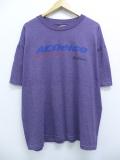 XL★古着 半袖 ビンテージ Tシャツ 90年代 レーシングカー ACデルコ クルーネック 大きいサイズ USA製 紫 パープル 霜降り 19sep09 中古 メンズ
