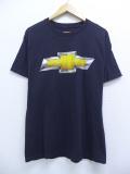 L★古着 半袖 Tシャツ シボレー クルーネック 黒 ブラック 19sep09 中古 メンズ