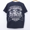 L★古着 半袖 Tシャツ スカル スタージス バイクラリー コットン クルーネック 黒 ブラック 20apr03 中古 メンズ