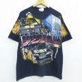 XL★古着 半袖 Tシャツ レーシング 00年代 00s シボレー NASCAR ジェフハミルトン ショベルカー コットン クルーネック 黒 ブラック 20jun01 中古 メンズ