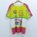 XL★古着 半袖 ビンテージ Tシャツ 90年代 90s レーシング ケロッグ NASCAR 企業広告 ラグラン コットン USA製 黄他 イエロー 20aug18 中古 メンズ