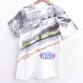 L★古着 半袖 ビンテージ Tシャツ メンズ 90年代 90s ドラッグレーシング NHRA 全面プリント 染込プリント クルーネック 白 ホワイト 21jun09 中古