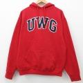 L★古着 長袖 スウェット パーカー 90年代 90s UWG USA製 赤 レッド 21mar04 中古 メンズ スエット トレーナー トップス
