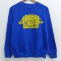 L★古着 長袖 スウェット 80年代 80s ネブラスカ クルーネック ラグラン USA製 青 ブルー 21apr09 中古 メンズ スエット トレーナー トップス