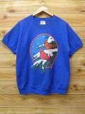L★古着 半袖 スウェット 80年代 鳥 USA製 青 ブルー 18jul13 中古 メンズ スエット トレーナー トップス