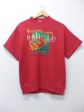 S★古着 半袖 スウェット 90年代 リー Lee 天使 USA製 赤 レッド 19sep09 中古 メンズ スエット トレーナー トップス