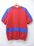 M★古着 半袖 スウェット 90年代 赤 レッド 19sep09 中古 メンズ スエット トレーナー トップス