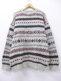 XL★古着 セーター 80年代 エルエルビーン LLBEAN ウール グレー 19feb22 中古 メンズ ニット トップス