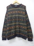 XL★古着 セーター 90年代 ジャンセン USA製 黒 ブラック 19sep06 中古 メンズ ニット トップス