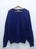 XL★古着 長袖 ブランド セーター 80年代 シアーズ Vネック 紺 ネイビー 19sep10 中古 メンズ ニット トップス