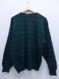 L★古着 長袖 ブランド セーター ブルックスブラザーズ BROOKS BROTHERS メリノウール イタリア製 深緑 グリーン 19sep13 中古 メンズ ニット トップス