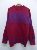 L★古着 長袖 セーター 90年代 ウール USA製 エンジ 19sep13 中古 メンズ ニット トップス