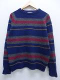 M★古着 長袖 ブランド セーター 80年代 マクレガー McGREGOR ウール USA製 紺他 ネイビー ボーダー 19sep13 中古 メンズ ニット トップス
