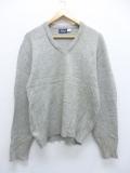 M★古着 長袖 セーター 80年代 Vネック ウール USA製 グレー 霜降り 19sep18 中古 メンズ ニット トップス