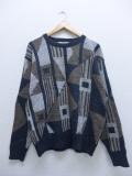 M★古着 長袖 ブランド セーター 90年代 ジャンセン USA製 グレー他 19sep18 中古 メンズ ニット トップス