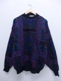 L★古着 長袖 ブランド セーター 90年代 マクレガー McGREGOR 黒他 ブラック 19sep18 中古 メンズ ニット トップス