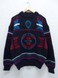 M★古着 長袖 セーター 90年代 黒 ブラック 19sep20 中古 メンズ ニット トップス