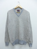 L★古着 長袖 ブランド セーター 80年代 JCペニー Vネック USA製 薄グレー 19sep27 中古 メンズ ニット トップス