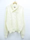 XL★古着 長袖 セーター 90年代 ショールカラー 生成り 19oct03 中古 メンズ ニット トップス