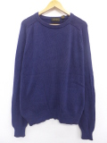 XL★古着 長袖 セーター 90年代 エディーバウアー 大きいサイズ コットン 紺 ネイビー 19oct03 中古 メンズ ニット トップス
