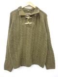 M★古着 長袖 ケーブル セーター ショット Schott ウール 緑系 グリーン 19oct08 中古 メンズ ニット トップス