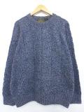 XL★古着 長袖 ブランド セーター 90年代 エディーバウアー ラグラン 大きいサイズ ウール クルーネック 青系 ブルー 19oct15 中古 メンズ ニット トップス