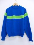S★古着 長袖 セーター 70年代 シアーズ クルーネック 青 ブルー 19oct17 中古 メンズ ニット トップス