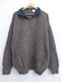 L★古着 長袖 セーター 90年代 オービス ORVIS ウール USA製 グレー 19oct29 中古 メンズ ニット トップス