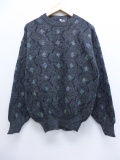M★古着 長袖 セーター クルーネック イタリア製 19nov11 中古 メンズ ニット トップス