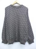 L★古着 長袖 セーター 90年代 90s コットン クルーネック イタリア製 茶 ブラウン 19nov11 中古 メンズ ニット トップス