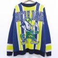 XL★古着 長袖 セーター ノートルダム クルーネック 大きいサイズ 紺 ネイビー 19nov29 中古 メンズ ニット トップス
