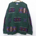 XL★古着 長袖 セーター 90年代 90s ウールリッチ WOOLRICH クルーネック 緑 グリーン 【spe】 20sep17 中古 メンズ ニット トップス