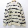 L★古着 長袖 セーター 90年代 90s ギャップ GAP クルーネック ウール 生成り 20sep17 中古 メンズ ニット トップス