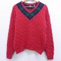 M★古着 長袖 ケーブル セーター 90年代 90s ギャップ GAP 赤 レッド 20sep23 中古 メンズ ニット トップス