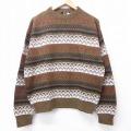 L★古着 長袖 セーター 70年代 70s キャンパス クルーネック USA製 緑系他 グリーン 20sep23 中古 メンズ ニット トップス