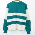 M★古着 長袖 セーター 90年代 90s ギャップ GAP クルーネック 緑他 グリーン 20sep29 中古 メンズ ニット トップス