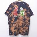 XL★古着 半袖 Tシャツ NFL カンザスシティチーフス ニューヨークジェッツ コットン クルーネック 黒 ブラック ブリーチ加工 アメフト スーパーボウル 20jul01 中古 メンズ