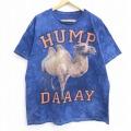 XL★古着 半袖 Tシャツ ラクダ HUMP DAAAY コットン クルーネック 紺系 ネイビー タイダイ 20jul02 中古 メンズ