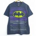 L★古着 半袖 Tシャツ DCコミックス バットマン BATMAN コットン クルーネック 黒 ブラック 20jul09 中古 メンズ