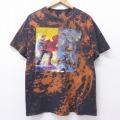 L★古着 半袖 Tシャツ DCコミックス スーパーマン バットマン BATMAN 黒 ブラック ブリーチ加工 20jul10 中古 メンズ